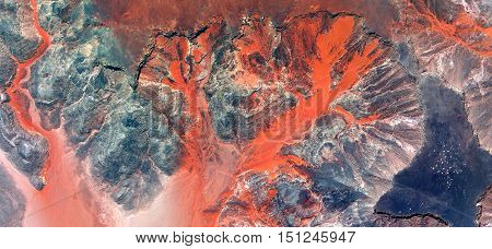 red and orange river,Fantasy lava desert sand,abstract landscapes of deserts of Africa ,Abstract Naturalism,abstract photography deserts of Africa from the air,abstract surrealism,mirage in  desert,