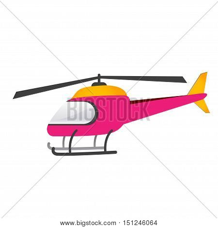 Pink chopper on a white background. Vector illustration