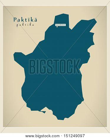 Modern Map Paktika Afghanistan AF vector high res