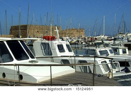 Heraklion Fort Boats