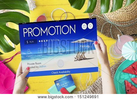 Promotion Advertisement Summer Marketing Concept