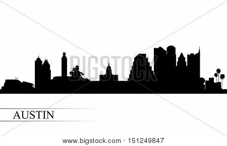 Austin City Skyline Silhouette Background