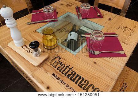 31 may 2014-castegneto carducci-italy- especially a restaurant in castegneto Carducci in Bolgheri area in Tuscany