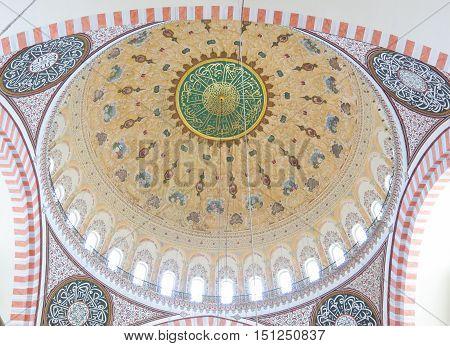 Roof Of Suleymaniye Mosque (suleymaniye Camisi) In Istanbul, Turkey