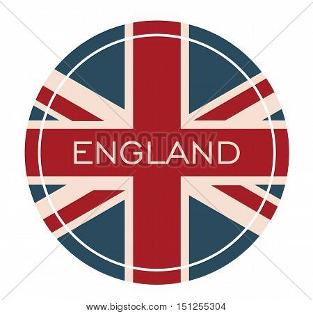 England Badge - I Love UK Badge Card Isolated Vector - Flag United Kingdom Illustration -