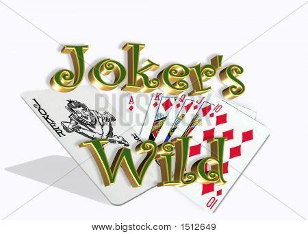 Joker wild weiß