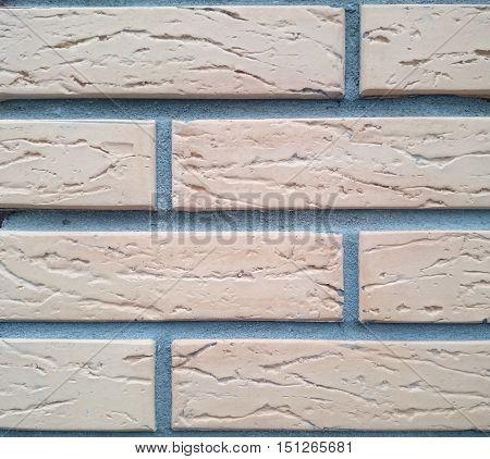 Details of brickwork of new brick wall