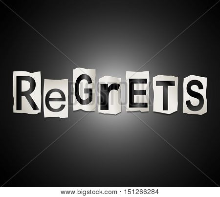 Regrets Word Concept.
