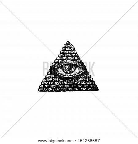 Vector Hand Drawn Providence Eye.