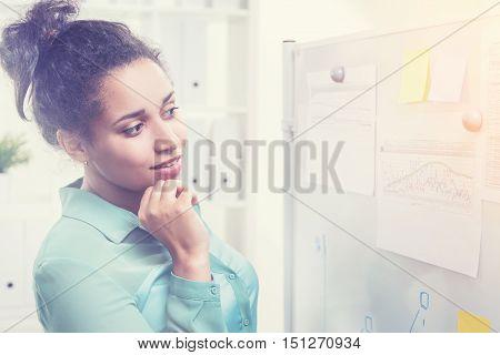 Black Woman In An Office