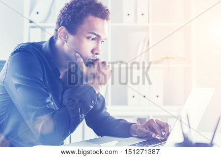 Thoughtful Man Working On His Project