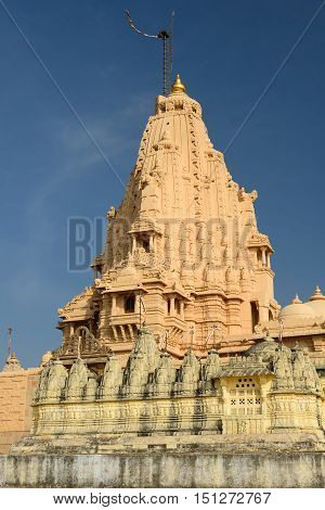 Jain temples on the holy Palitana top in the Gujarat state in India