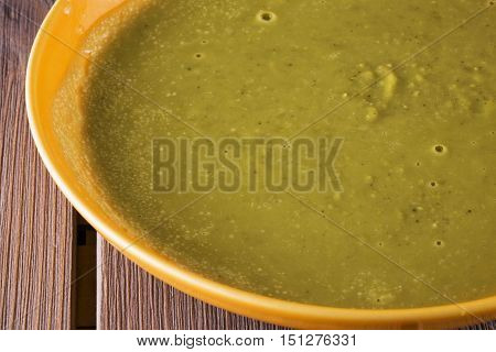 Vegetable Soup In Yellow Plate