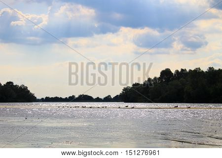 View on the river Dnieper in Ukraine