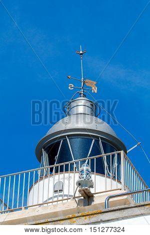 Old lighthouse in Tossa de Mar on the Costa Brava.