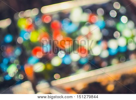 Abstract colorful blur de- focused background (abstract, bokeh, decor)
