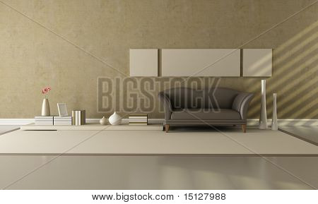 Brown And Beige Lounge