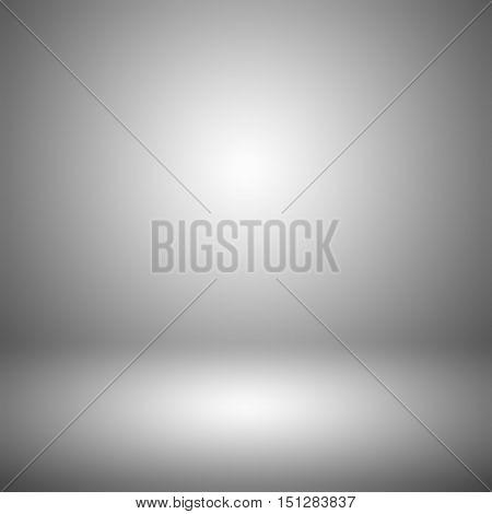 Grey gradient abstract background / gray room studio background