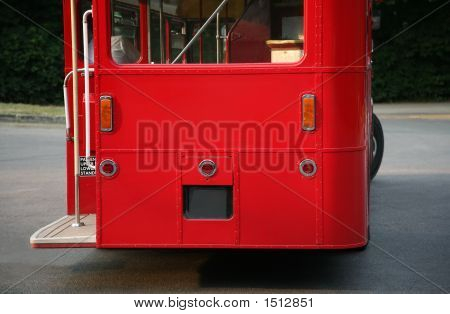Back Of London Red Bus