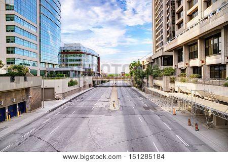 Urban scene street view in the morning Gatineau Canada.