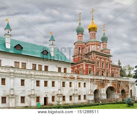 Mariinsky Chambers and Church of the intercession of the Novodevichy convent in Moscow
