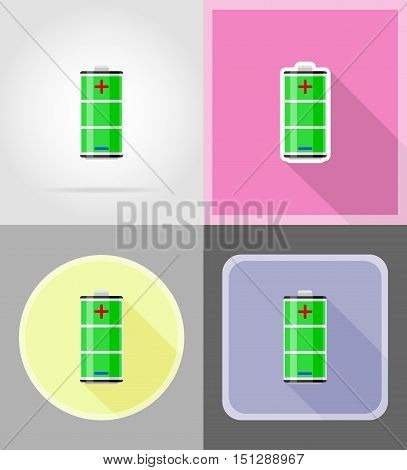 charge battery flat icons vector illustration isolated on background