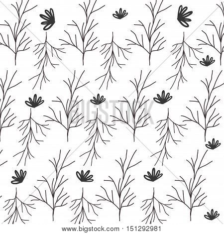 pattern of stem with multiple branches vector illustration