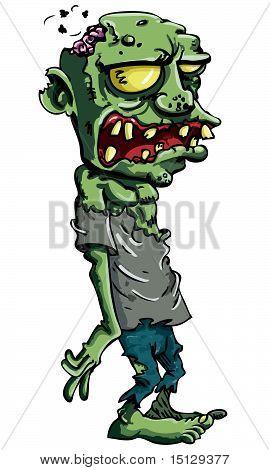 Cartoon Zombie isoliert auf weiss