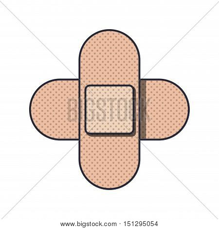 couple of cures in cross form vector illustration