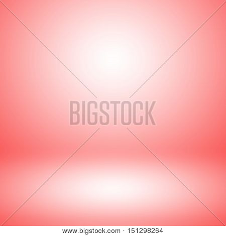 Abstract light red empty room studio gradient used for background and display your product