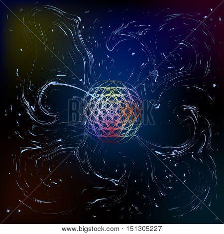 anomaly. phenomenon. Background . cosmic mystery. Art. Vector illustration