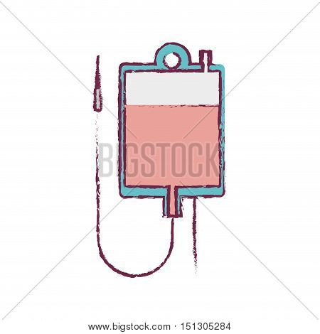 blur blood donation bag and colorfull vector illustration