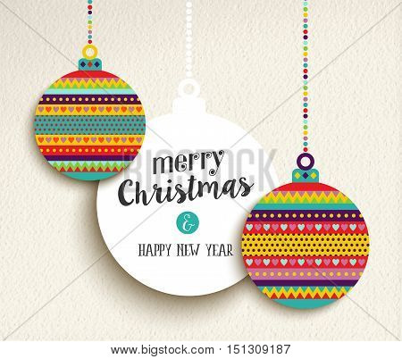 Christmas And New Year Fun Color Design Bauble