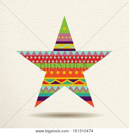 Colorful Star Design In Fun Geometric Shape Style