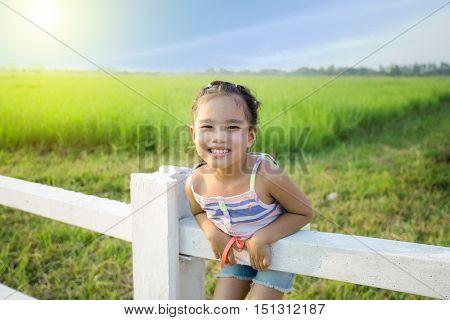 portrait children feeling happy . . .