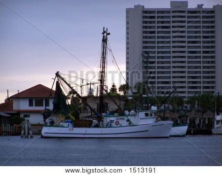 Shrimp Boat In The Early Morning