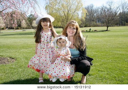 Family of girls