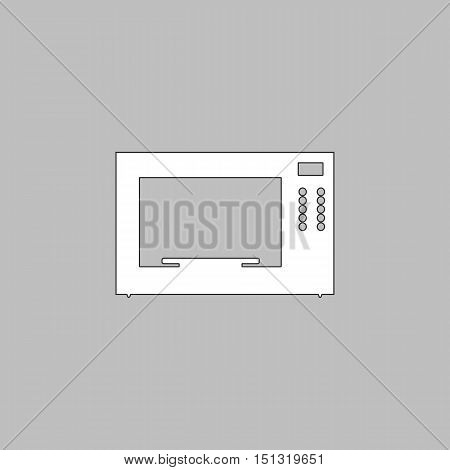Microwave Icon Vector. Flat simple color pictogram