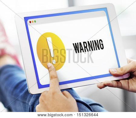 Warning Notification Alert Exclamation Point Concept