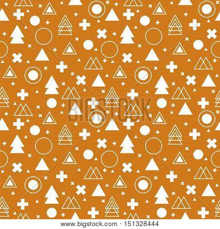 Tribal background. Ethnic geometric seamless pattern. Vector illustration