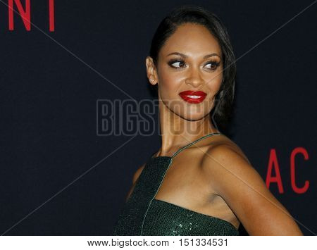 Cynthia Addai-Robinson at the Los Angeles premiere of 'The Accountant' held at the TCL Chinese Theater in Hollywood, USA on October 10, 2016.