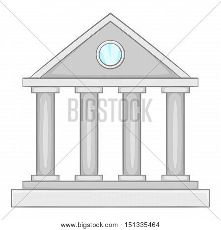 Museum building icon. Cartoon illustration of museum building iconvector icon for web