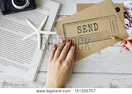 Mail Send Delivery Delivered Card Documents Concept