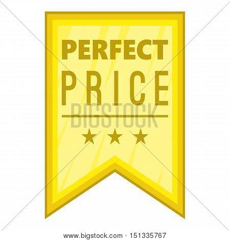 Perfect price pennant icon. Cartoon illustration of perfect price pennant vector icon for web
