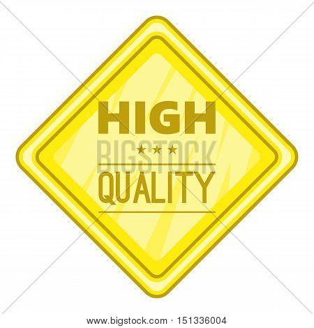 High quality label icon. Cartoon illustration of high quality label vector icon for web