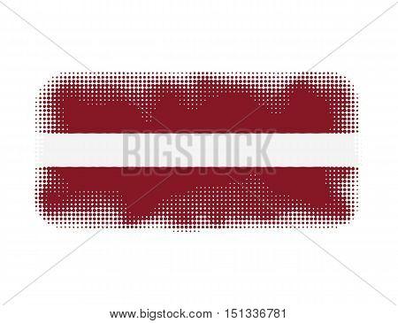 Latvia flag symbol halftone vector background illustration