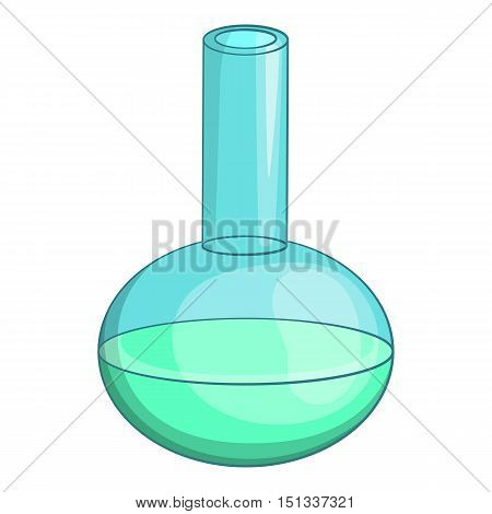 Chemical laboratory flask icon. Cartoon illustration of chemical laboratory flask vector icon for web