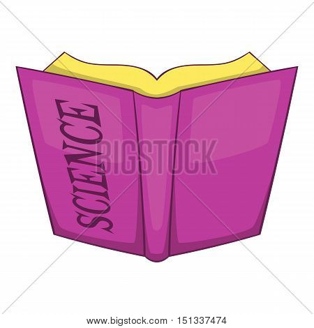 Science book icon. Cartoon illustration of science book vector icon for web