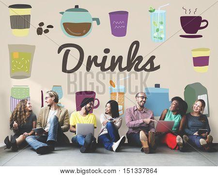 Drinks Alcohol Beverage Hydrate Juice Liquid Concept