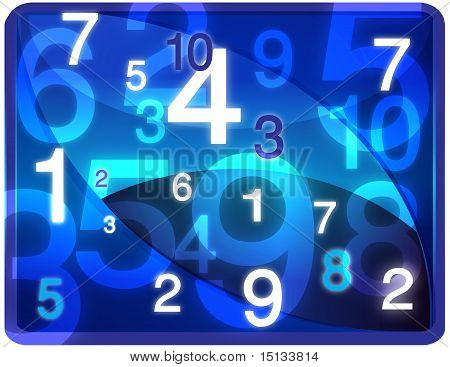 Blue Numbers flow Texture